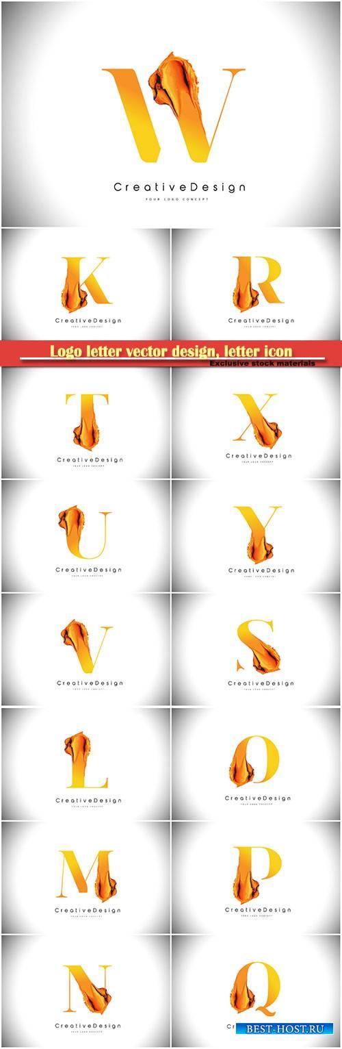 Logo letter vector design, letter icon # 19