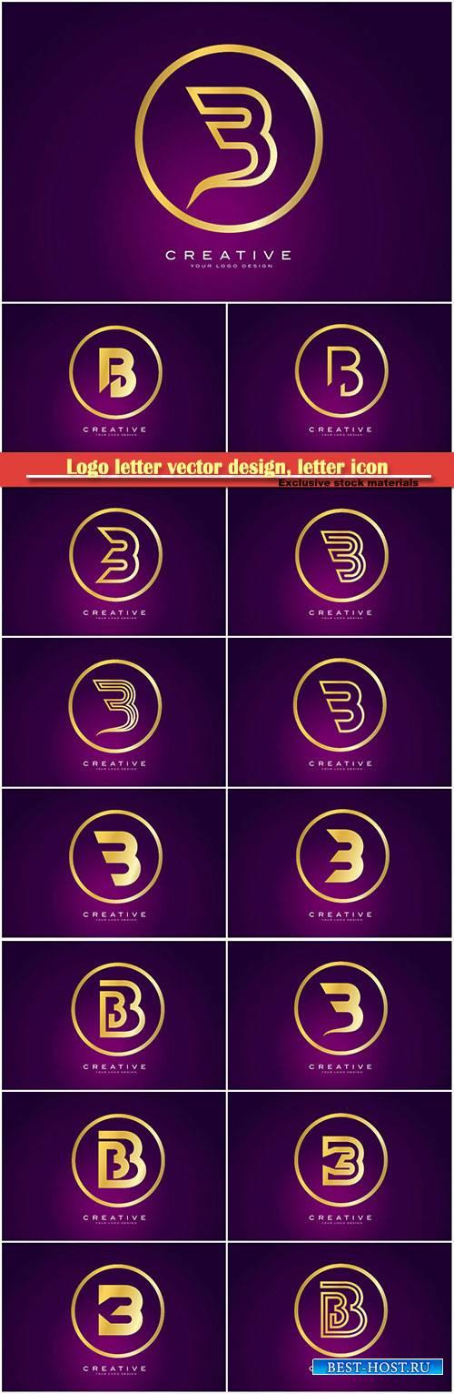 Logo letter vector design, letter icon # 23