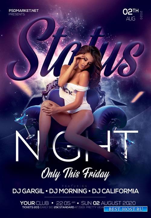 Status Night Flyer - PSD Template