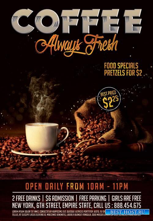 COFFEE FRESH – PREMIUM FLYER PSD TEMPLATE