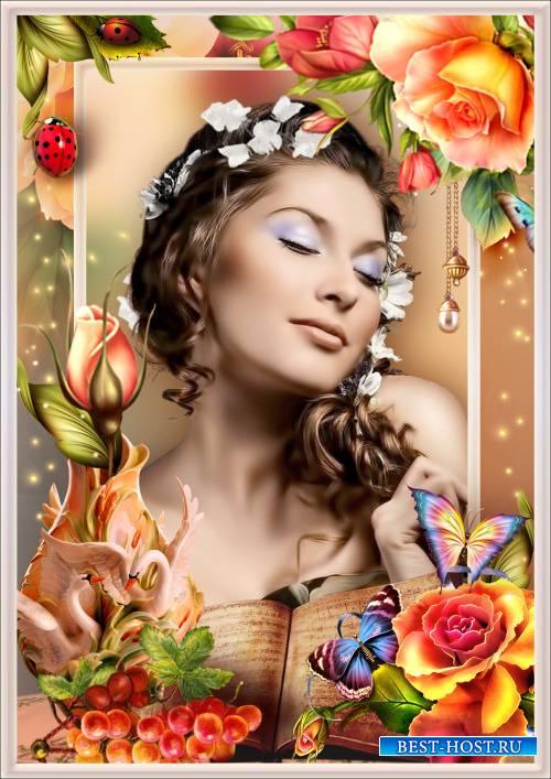 Рамка для Фотошопа - Почему так сладко пахнут розы? Аромат цветов рождает грезы