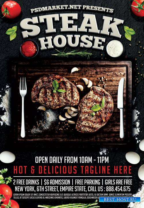 Steak House – Premium Flyer PSD Template
