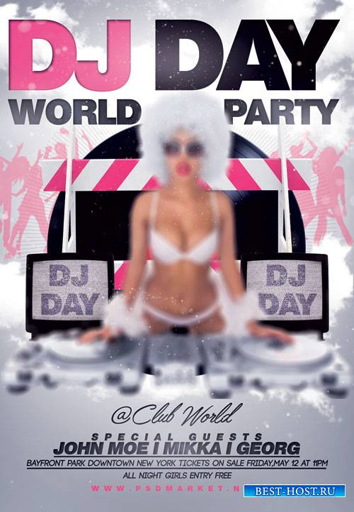 Dj Day World Party – Premium Flyer PSD Template