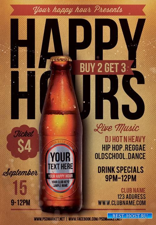 Happy Hours – Premium Flyer PSD Template