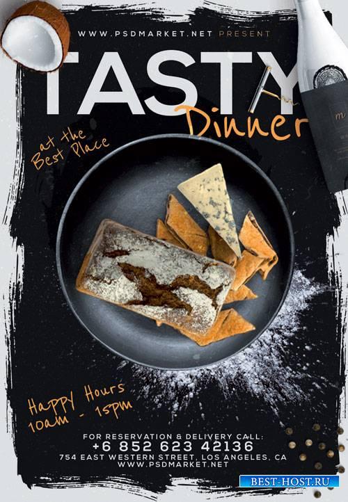 TASTY DINNER FLYER – PSD TEMPLATE