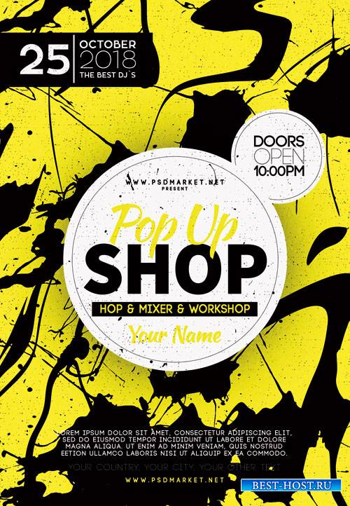 POP UP STORE FLYER -  PSD TEMPLATE