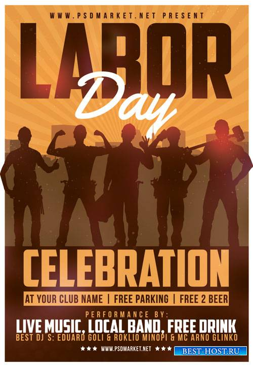 LABOR DAY FLYER - PSD TEMPLATE