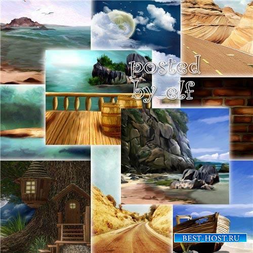 Набор фонов для фотошопа
