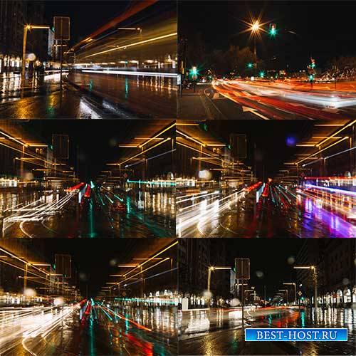 Ночной город - Растровый клипарт / Night City - Raster clipart