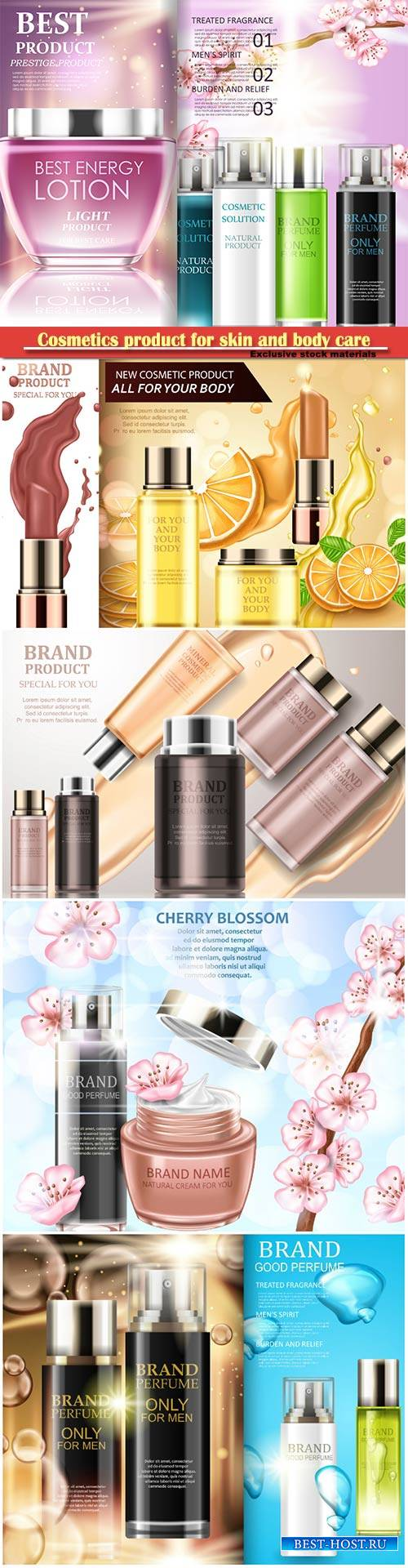 Cosmetics product for skin and body care, magazine for choosing cosmetic no ...