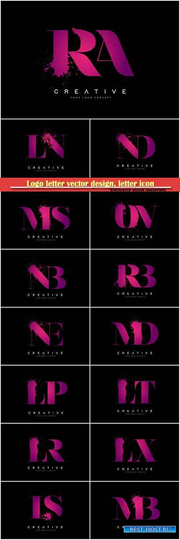 Logo letter vector design, letter icon # 39