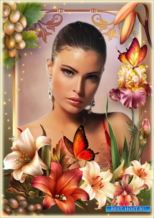 Рамка для Фотошопа - Лилия - символ чистоты, легкости и утонченности