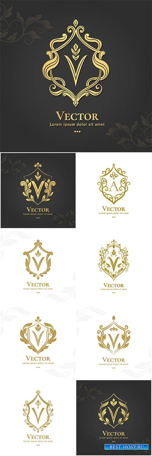 Logo gold vector template