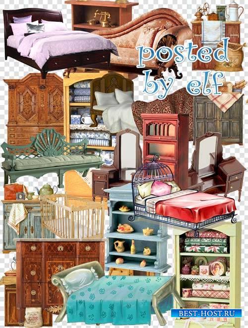 Разная мебель - кровати, шкафы в png