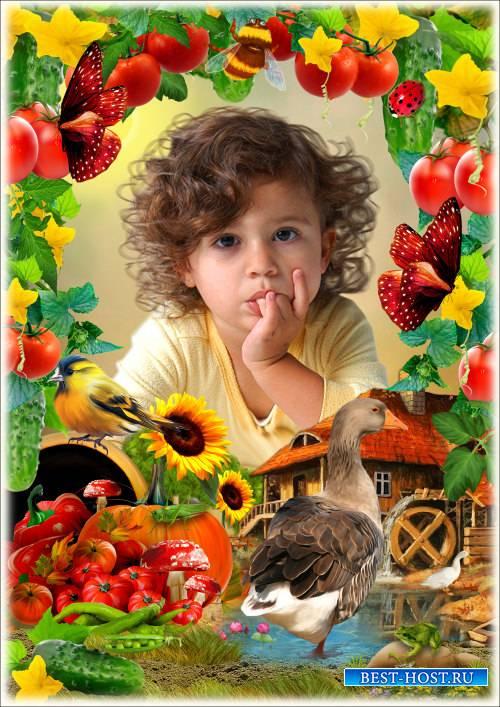 Рамка для Фотошопа - У дедушки на ферме