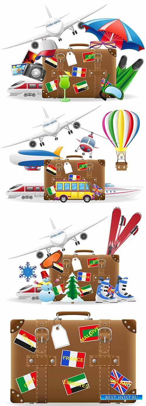 Путешествие - Векторный клипарт / Travel - Vector Graphics
