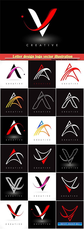 Letter design logo vector illustration