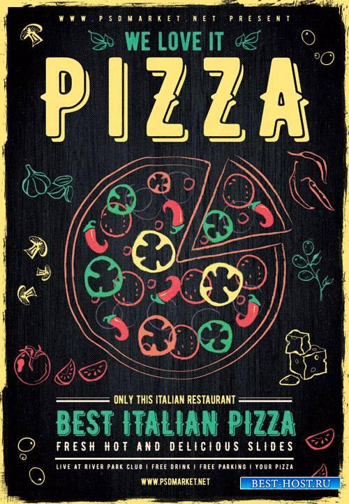 Pizza - Premium flyer psd template