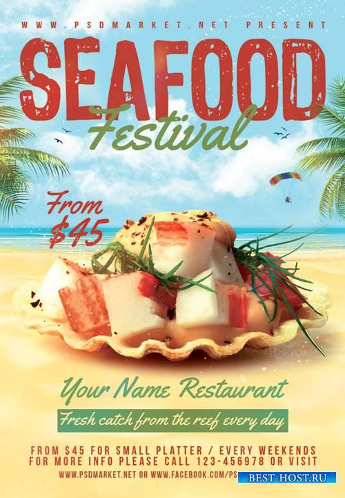 Seafood festival - Premium flyer psd template