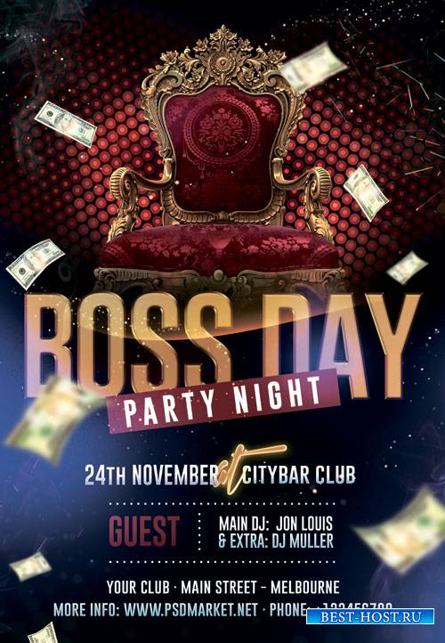 National boss day - Premium flyer psd template