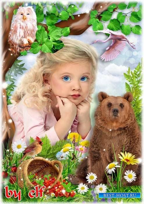 Рамка для детских фото - В лес за земляникой