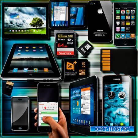 Png прозрачный фон - Планшеты, айфоны, карты памяти, смартфоны