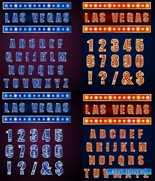 Английский алфавит и цифры в векторе / English alphabet and numbers in vector