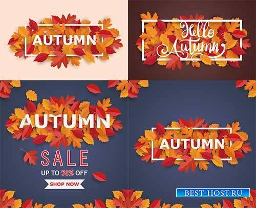 Осенние композиции - 3 - Векторный клипарт / Autumn composition - 3 - Vector Graphics