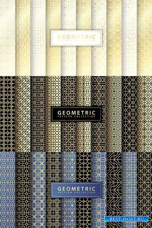 Коллекция геометрических узоров в векторе / Collection of geometric patterns in vector