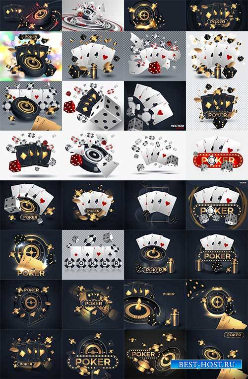 Покер. Казино - Векторный клипарт / Poker. Casino - Vector Graphics