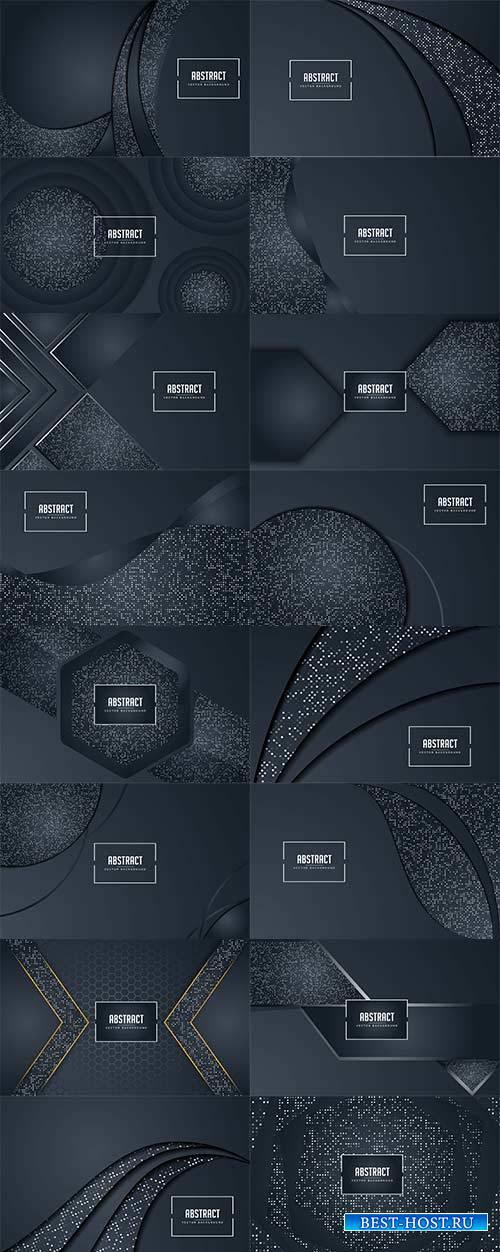Тёмные абстрактные фоны в векторе / Dark abstract backgrounds in vector