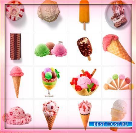 Клипарты для фотошопа - Сорта мороженного