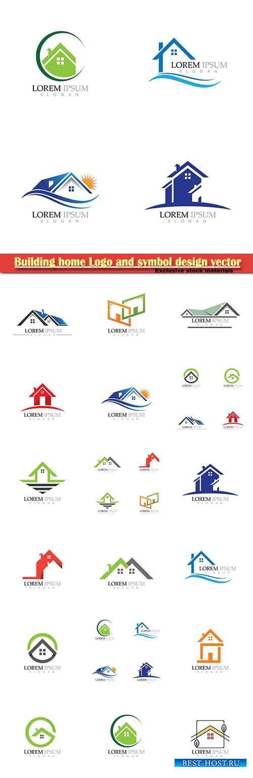 Building home Logo and symbol design vector