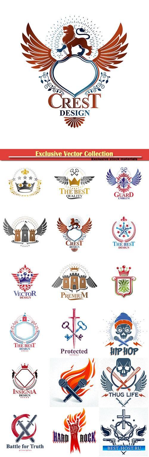 Best quality decorative logo isolated vector illustration