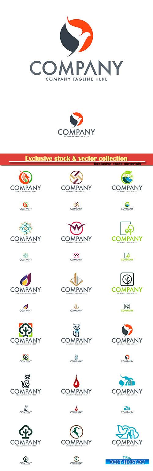 Logo vector template business set, company tagline here # 2