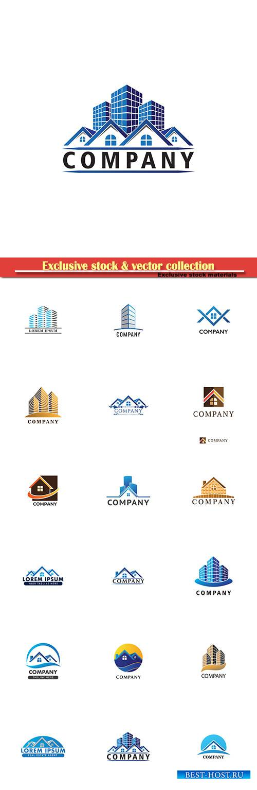 House and Building, real estate logo design template