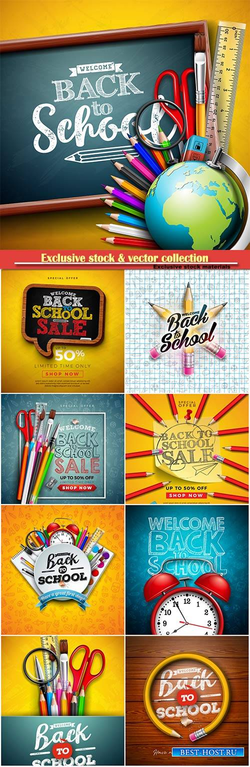 Back to school design vector, education concept illustration # 3