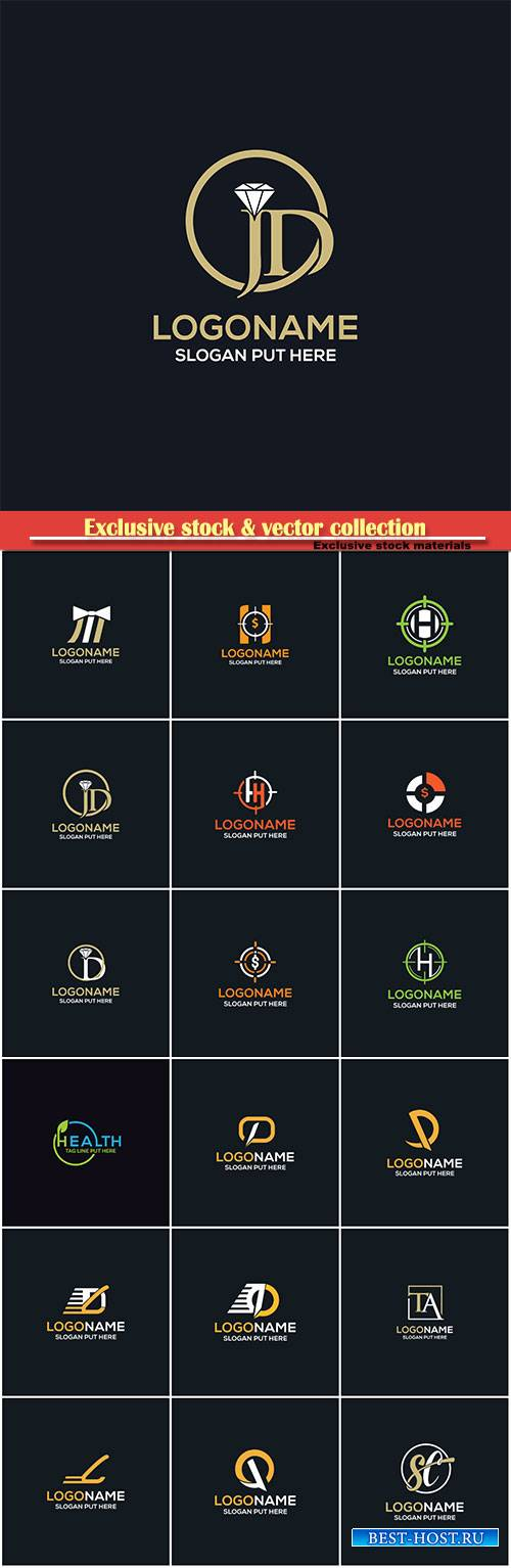 Company logo vector template business set