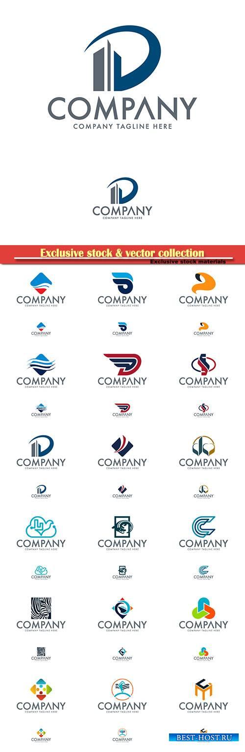 Logo vector template business set, company tagline here # 3