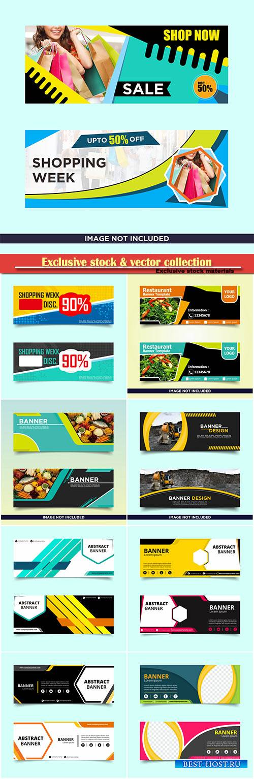 Banner template design, vector business set