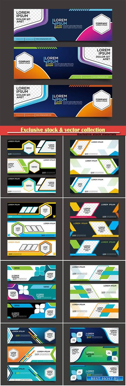 Vector banner template design,  business set