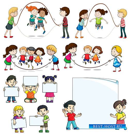 Дети - Векторный клипарт / Children - Vector Graphics