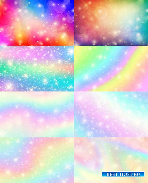 Разноцветные фоны с боке в векторе / Multicolored backgrounds with bokeh in ...