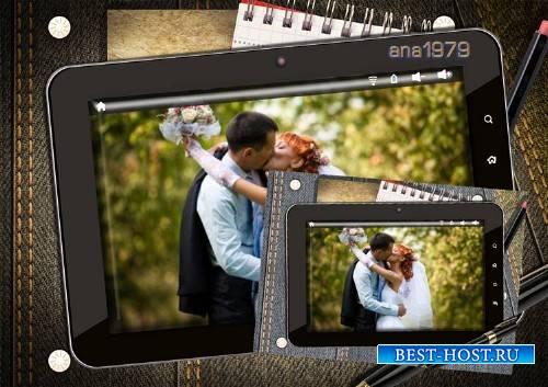 Рамка для фотошопа – Фото в планшете