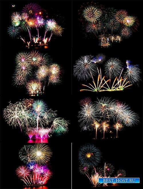 Красивые салюты - Растровый клипарт / Beautiful fireworks - Raster Graphics