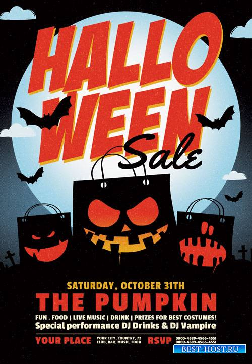 Halloween sale - Premium flyer psd template