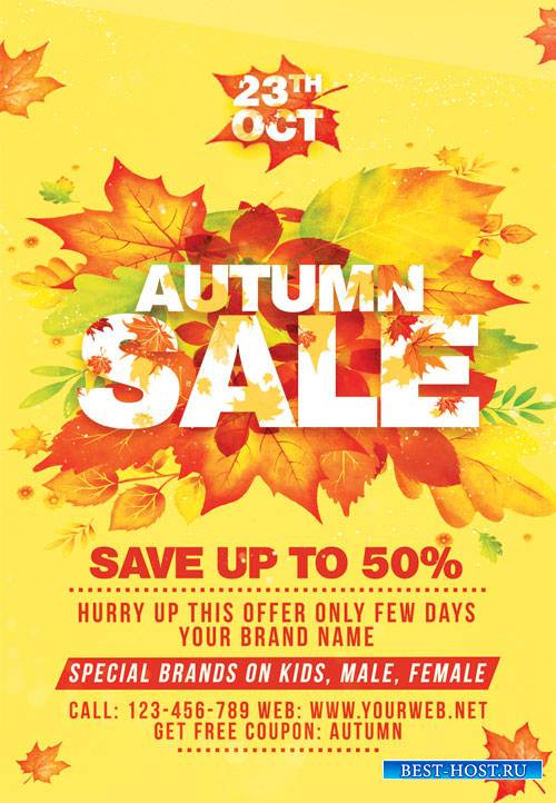 Autumn sale - Premium flyer psd template