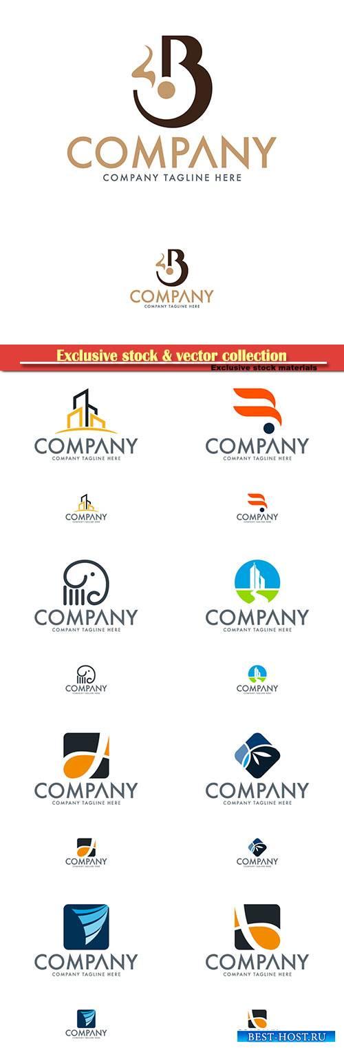 Logo vector template business set # 69