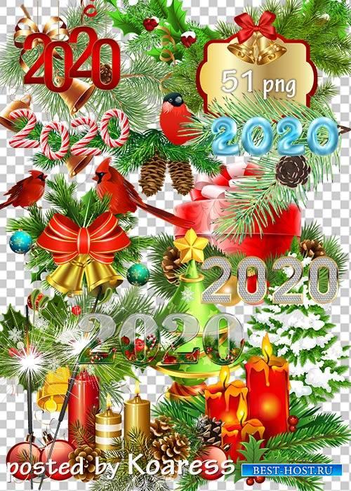 Праздничный клипарт png - Новогодние украшения