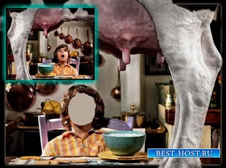 Шаблон детский - Молоко к столу